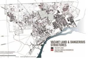 Carte des espaces vacants et des structures dangereuses